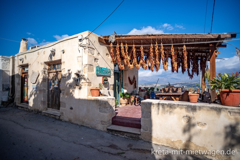 Botano in Kouses, probably the most famous herb shop in Crete