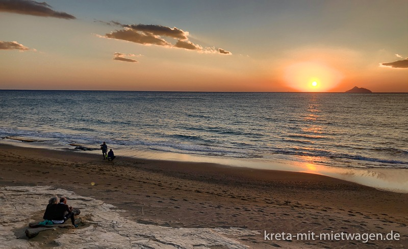 Kalamaki-Sonnenuntergang, immer besonders