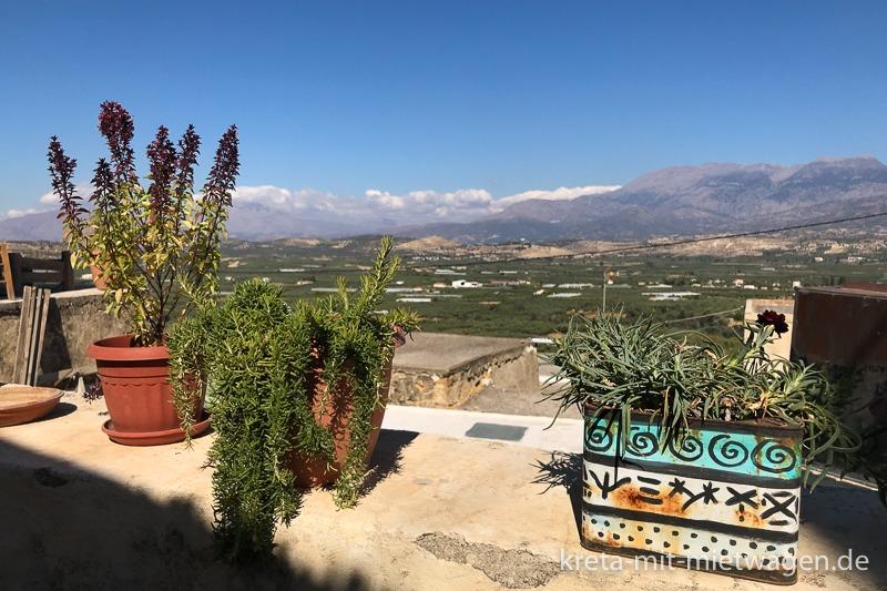 Botano in Kouses - Blick von der Terrasse