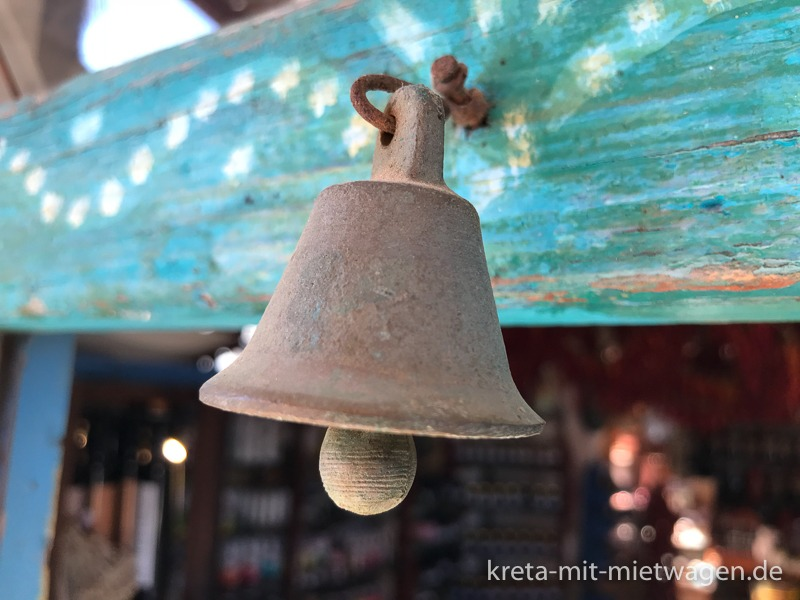 The shop bell of Botano in Kouses