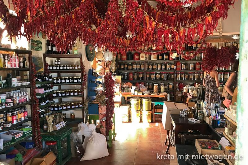 Botano - Innenansicht des berühmten Kräuterladens in Kouses