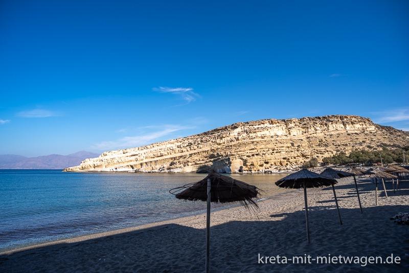 Matala beach and caves