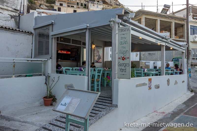 "Our restaurant recommendation for Matala: The ""Georges Yard"""