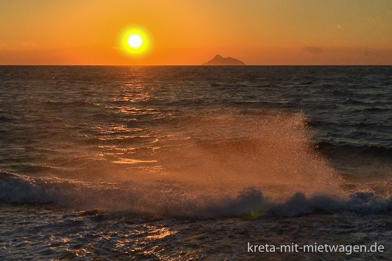 Kalamaki-Sonnenuntergang, jeden Tag anders